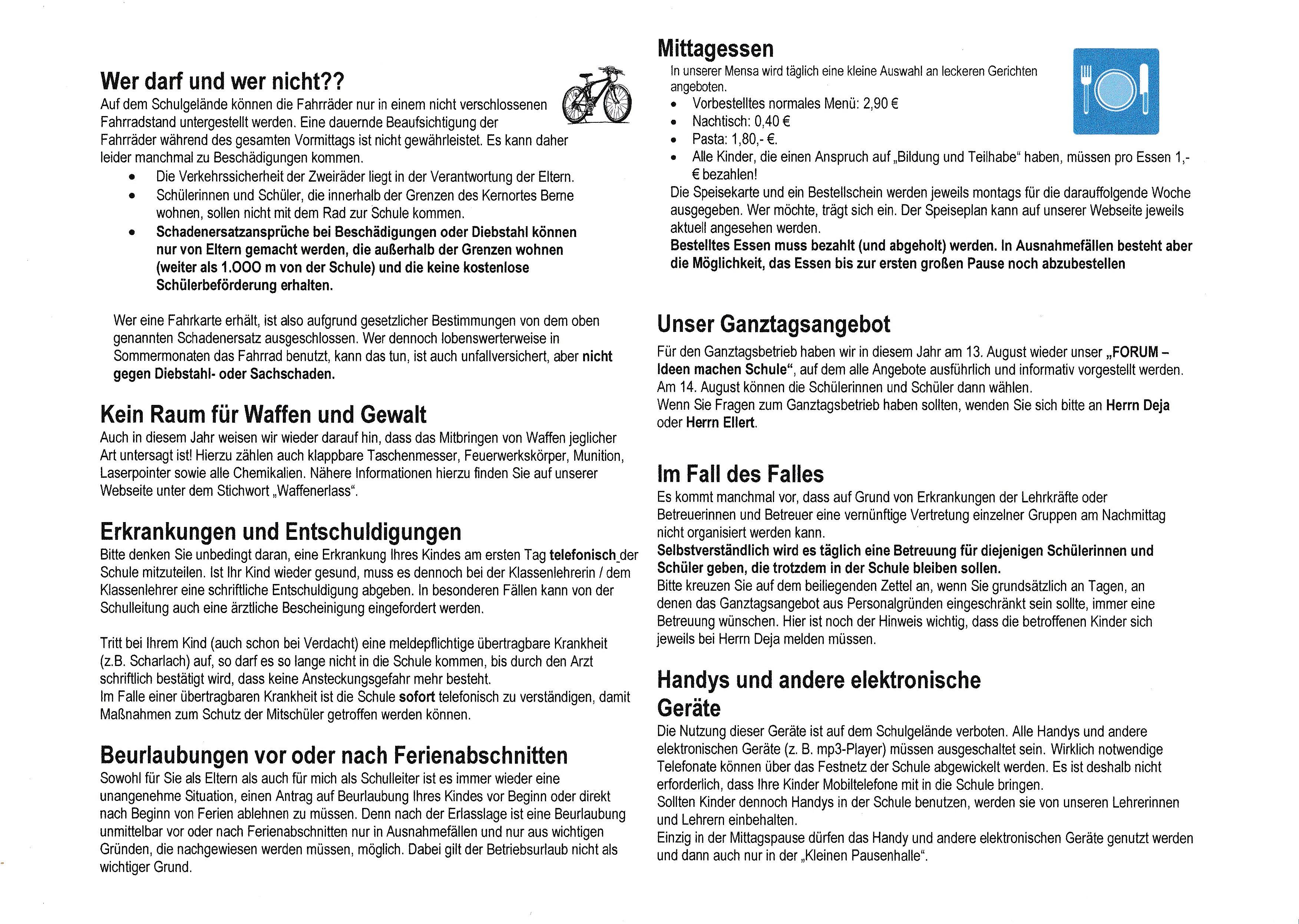 Info Brief Zum Schuljahresbeginn 8 18